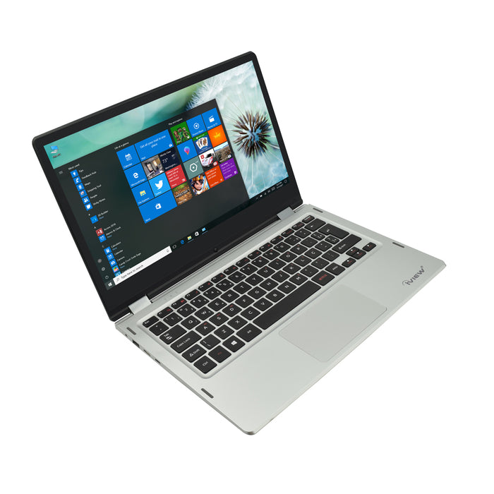 "Iview Ultima Plus silver 13.6"" 2-in-1 convertible Windows laptop"