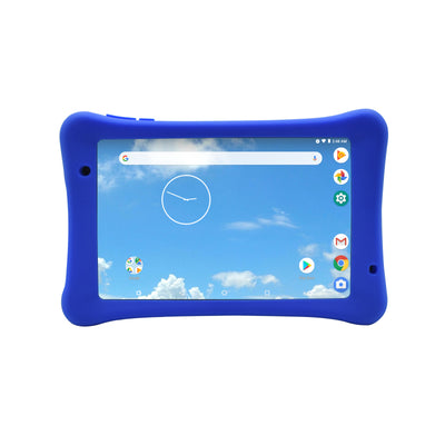 Iview 885TPC black ruggedize Android tablet with blue silicon case