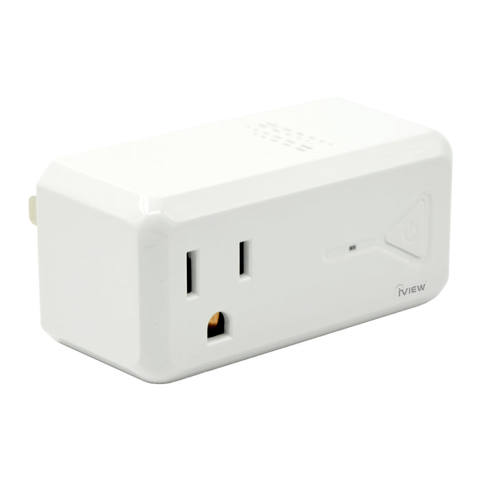 Iview ISC300 white smart socket with USB port side view
