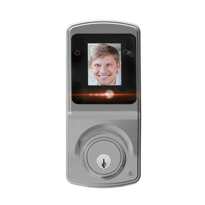 iView FL400 Facial Recognition Keyless Smart Door Lock Deadbolt Digital Touch Screen with Night Vision, Motorized Lock