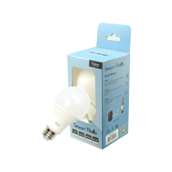 Iview ISB1000 smart light bulb with blue packaging