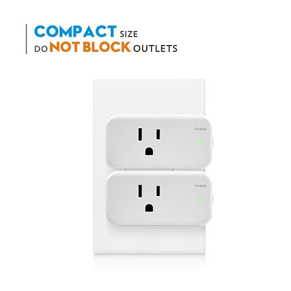 Compact and does not block outlets