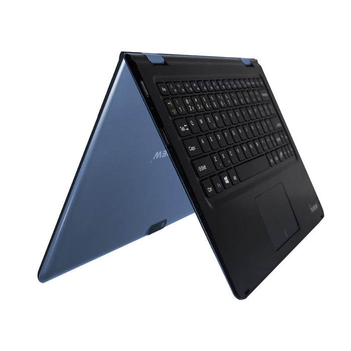 Iview blue Maximus 2-in-1 convertible Windows laptop tent angle