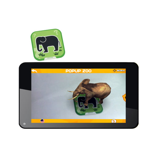 Iview 736TPC and Popup Zoo 4D interactive elephant flashcard