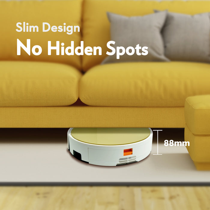 Slim design and no hidden spots