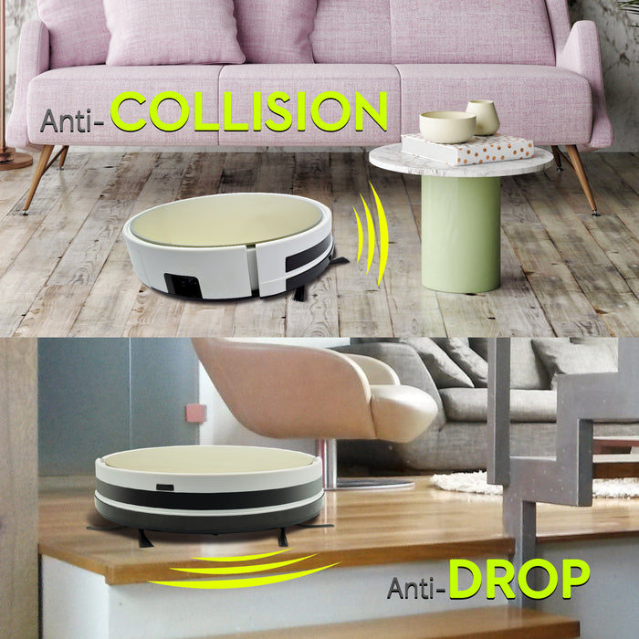 Iview 2-in-1 Smart Vacuum and Floor Mopping includes anti-collison and anti-drop