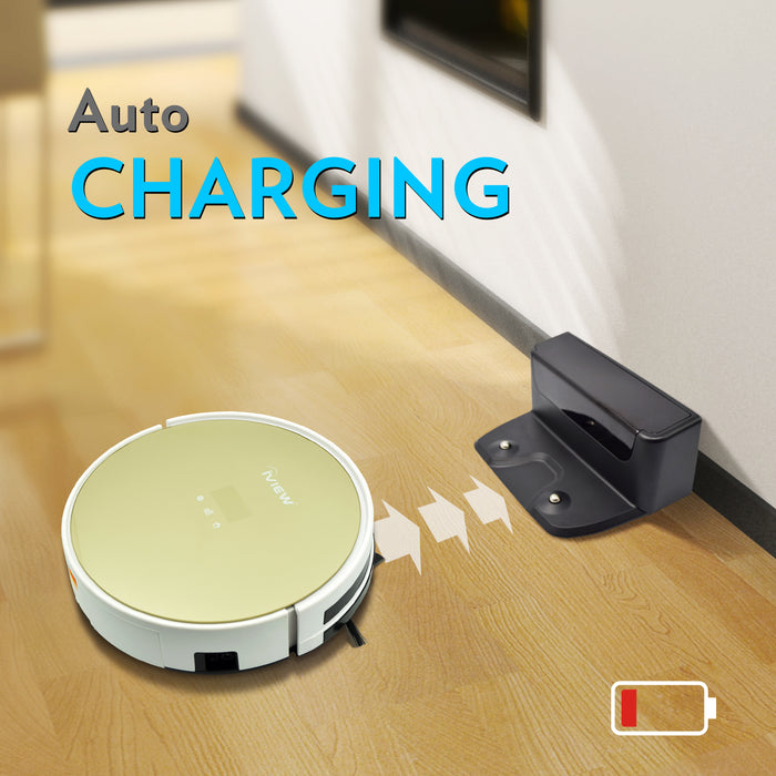 Iview 2-in-1 Smart Vacuum and Mop returning to auto-charging dock
