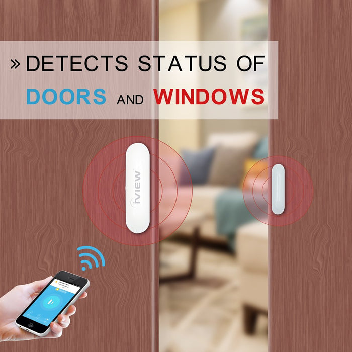 Iview S100 Smart Door and Window Sensor detects status of doors and windows