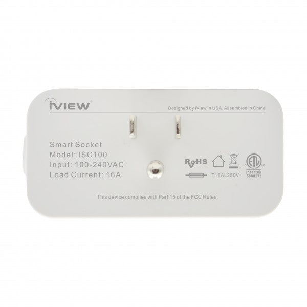 Iview ISC100 smart Wi-Fi socket back