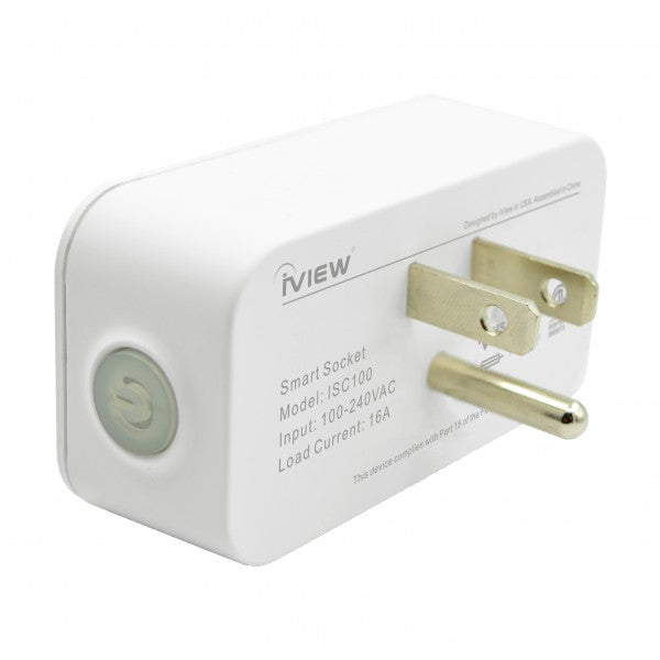 Iview ISC100 smart Wi-Fi socket back angle with on/off switch on the side