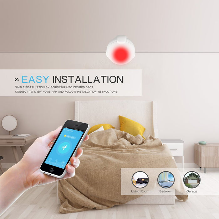 Iview S200 Smart Motion Sensor has easy installation