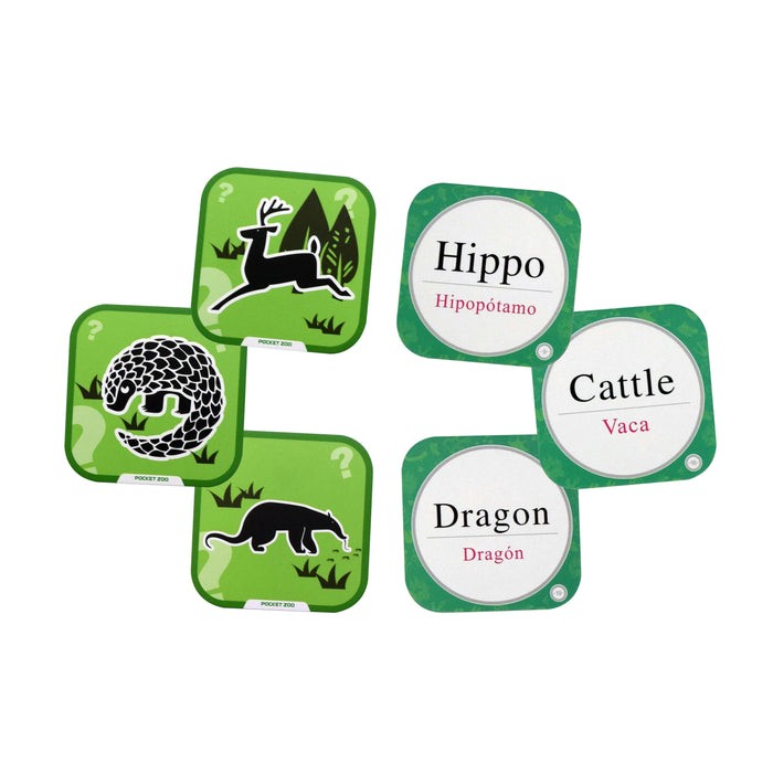 Iview Popup Zoo 4D interactive green flashcards