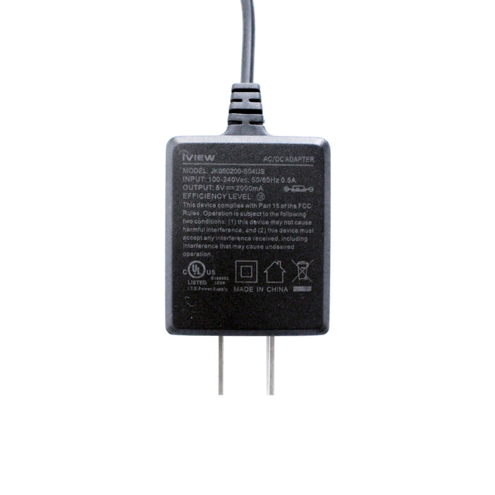 776TPC / 788TPC / 777TPCII / Cyber PC Charger - Affordable 100 - 240V, 50/60Hz 0.5A Input, 5V/2000mAh Output, UL Certified Replacement AC/DC Adapter