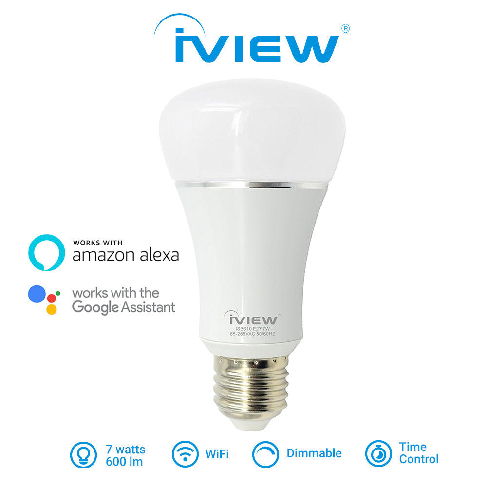 Iview ISB610 smart multicolor dimmable Wi-Fi light bulb