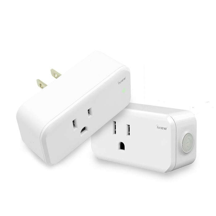 Two white iView ISC100-2 Smart Socket (Twin Pack)