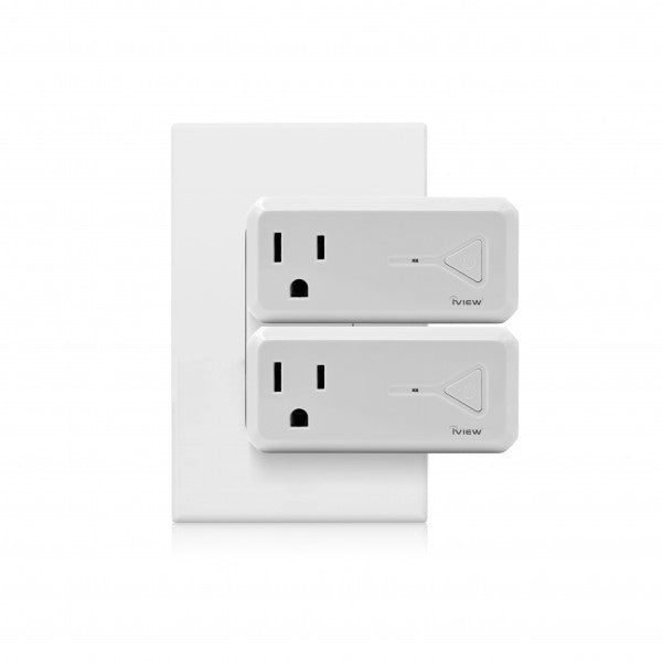 Iview ISC300 smart Wi-Fi socket with USB Port twin pack