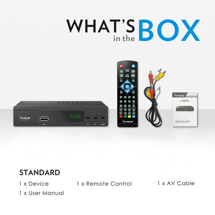 3300STB Digital Converter Box with TV Recording, ClearQAM, Media Function, 4TB HDD, and HDMI Connection
