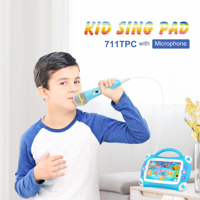 Iview 711TPC Kids Sing Pad sky blue Android kids tablet with microphone karaoke