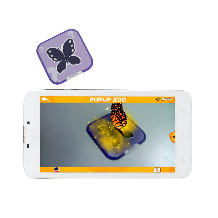 Iview Popup Zoo 4D interactive butterfly flashcard