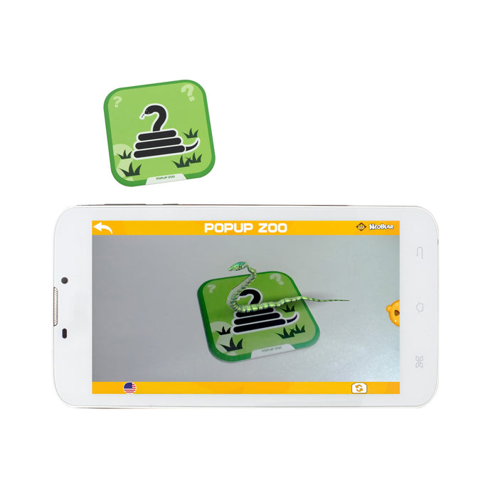 Iview Popup Zoo 4D interactive snake flashcard