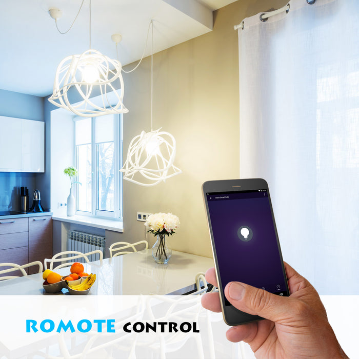 Remote control lights with Iview ISB600-2 smart multicolor dimmable Wi-Fi dual-pack light bulb
