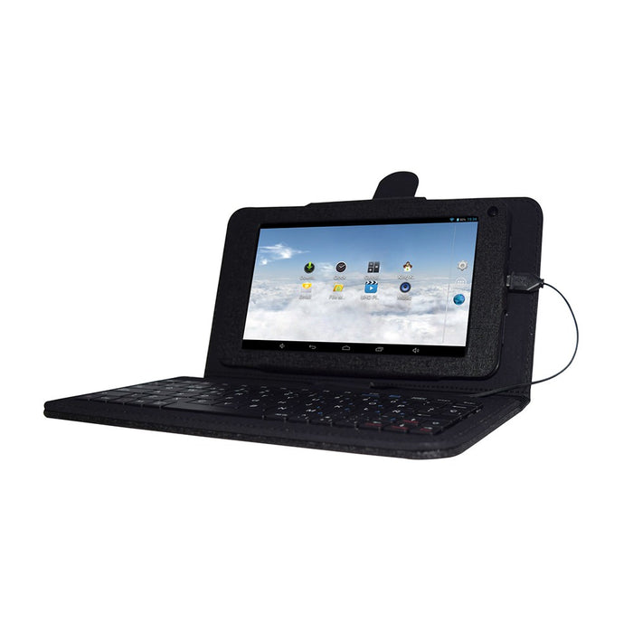 iView 733TPC-K Android tablet connected with keyboard case