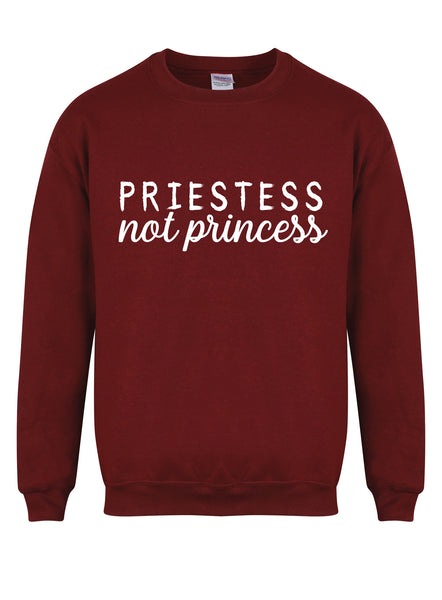 sweater-priestessnotprincess-maroon-whit
