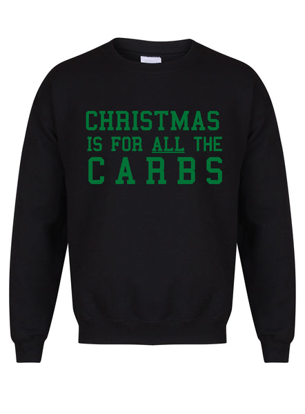 ChristmasCarbs-BlackSweaterwGreen.jpg