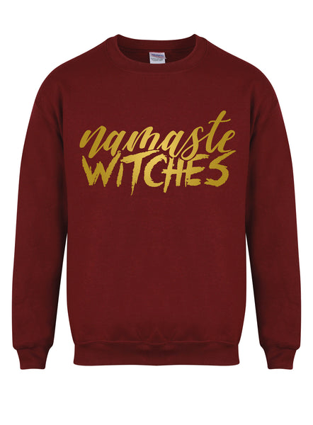 sweater-namastewitches-maroon-gold.jpg