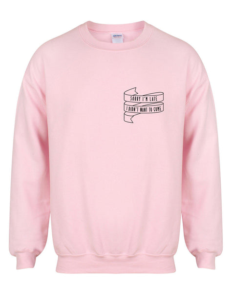 sweater-sorryimlate-pink-black.jpg