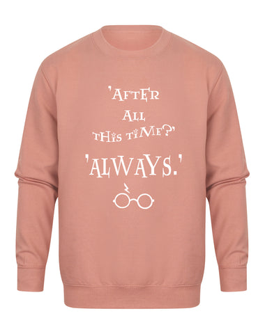 After All This Time, Always - Unisex Fit Sweater - Dusky Pink-Leoras Attic-Kelham Print