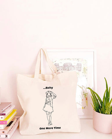 Baby One More Time - Large Canvas Tote Bag