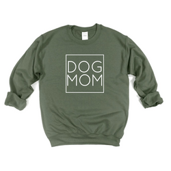 Dog Mom Square Crew Neck Sweatshirt