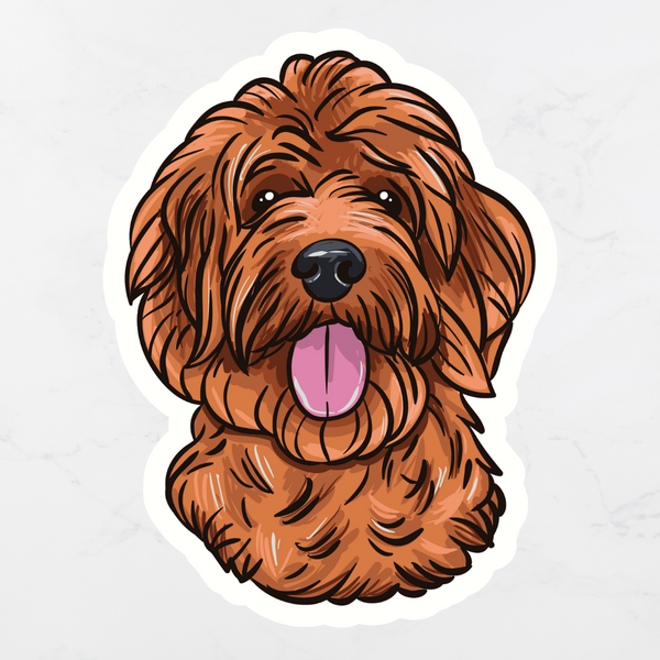 Red Doodle Sticker