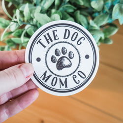 The Dog Mom co. Logo Sticker