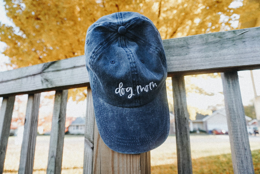 Navy Dog Mom Hat