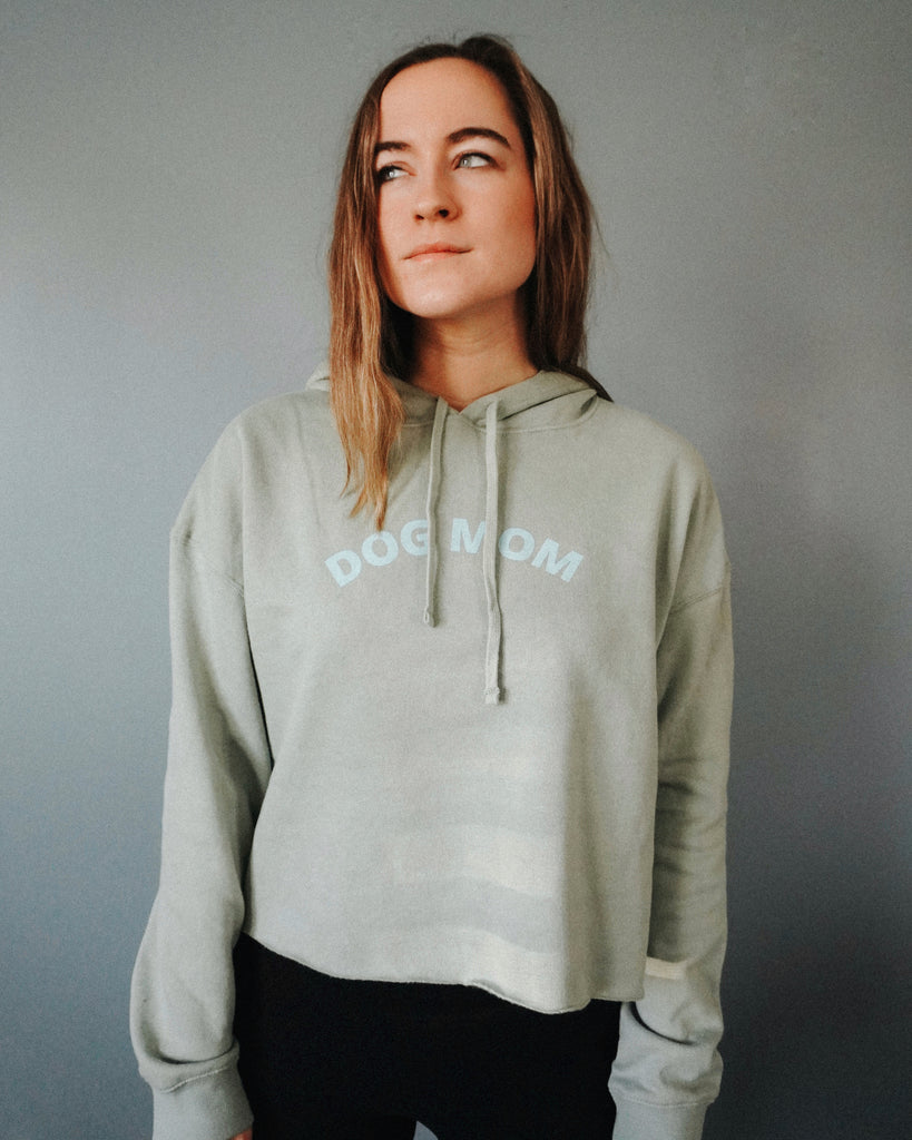 Monochrome Cropped Hoodie