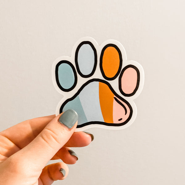 Colorful Paw Sticker