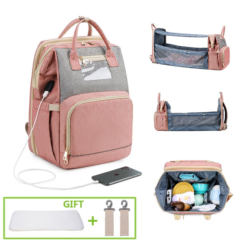 Baby Essential Diaper Bag With Bed