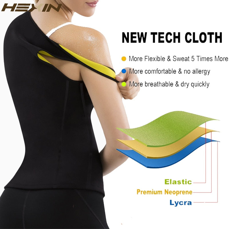 Plus Size Sweat Vest Sauna Waist Trainer