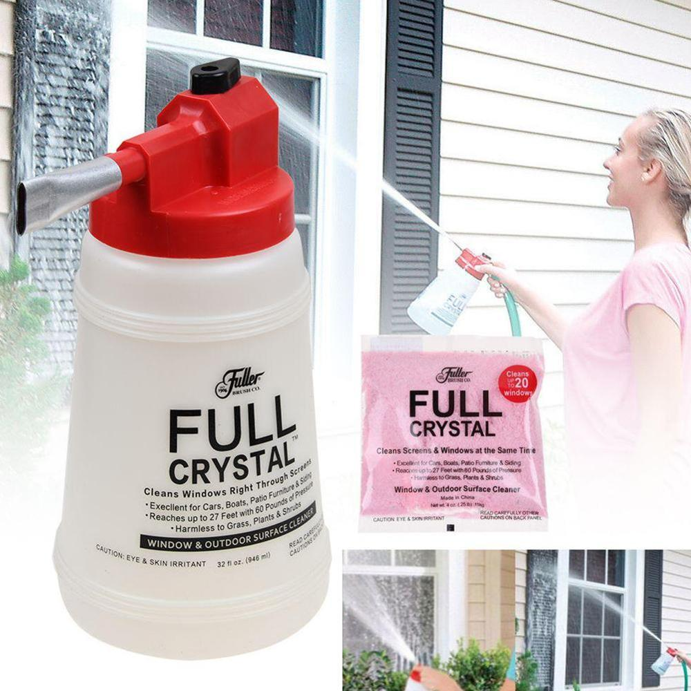 Window Cleaner Car Wash Cleaning Watering Can Glass Cleaning Handheld Spray Bottle Full Crystal