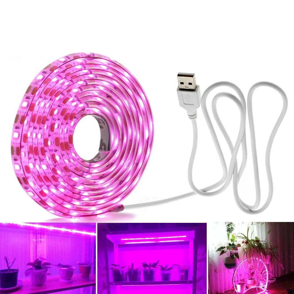 LED Grow Light Full Spectrum USB Grow Light Strip Phyto Lamps for Plants