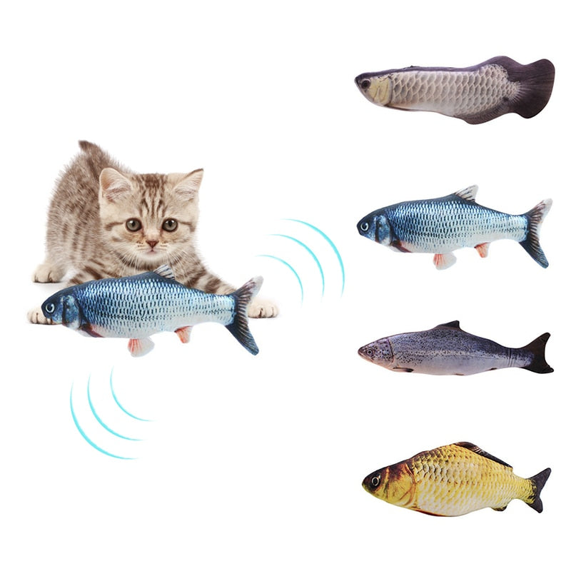 Cat Kicker Fish Toy With USB Rechargeable Wire