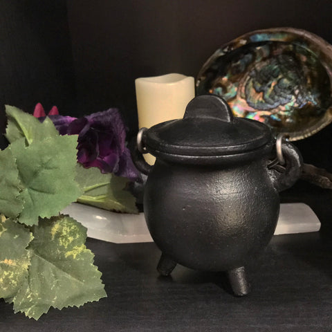 Mini Cauldron - Cast Iron - Painted