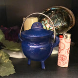 Mini Cauldron - Red, Pink or Blue - Painted Cast Iron