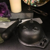 Cast Iron Cauldron with Pestle