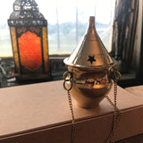 6Witch3 small brass incense burners - Burner A, which is vaguely shaped like a spittoon