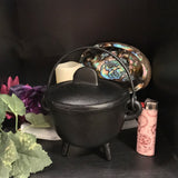 Large Cast Iron Cauldron with Lid
