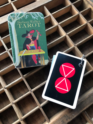 6Witch3 Tarot In A Tin by Barbara Walker, tin and back of cards