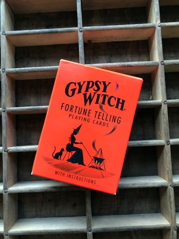 6Witch3 Gypsy Witch Fortune Telling Playing Cards - box
